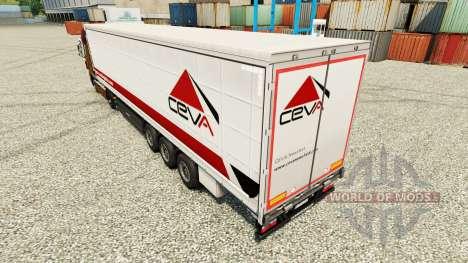 Ceva Logistics skin for trailers for Euro Truck Simulator 2