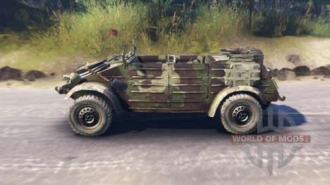 Volkswagen Typ 82 (Kubelwagen) for Spin Tires