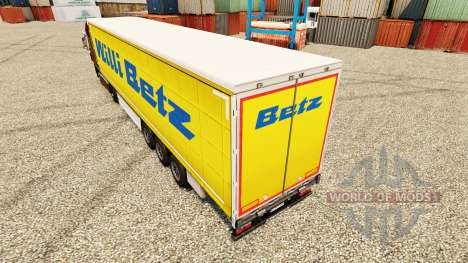 Willi Betz skin for trailers for Euro Truck Simulator 2