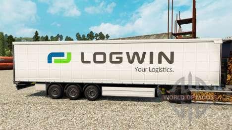 Logwin skin for trailers for Euro Truck Simulator 2