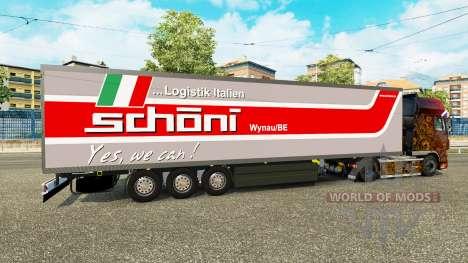 The semitrailer-the refrigerator Schoni Logistic for Euro Truck Simulator 2