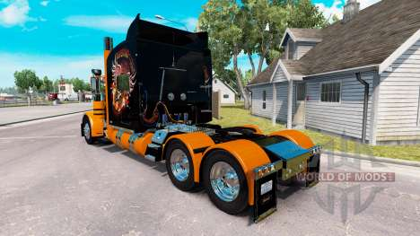 Skin Harley-Davidson for the truck Peterbilt 389 for American Truck Simulator