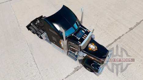 Skin Black Ops v2 on the truck Kenworth W900 for American Truck Simulator