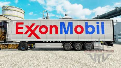 Exxon Mobil skin for trailers for Euro Truck Simulator 2