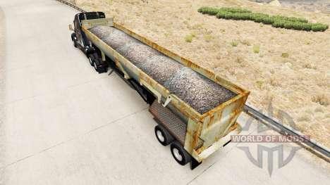 Tipper semitrailer with rust for American Truck Simulator