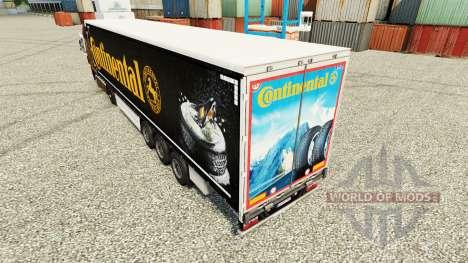 Skin Continental for semi-trailers for Euro Truck Simulator 2