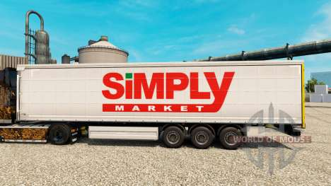 Skin Simply Market for trailers for Euro Truck Simulator 2