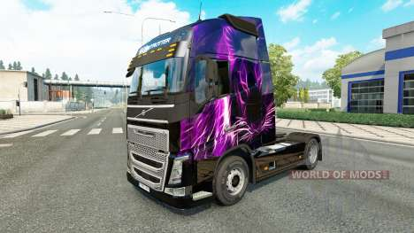 Purple Tiger skin for Volvo truck for Euro Truck Simulator 2