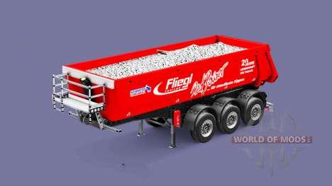 Semi-trailer tipper Fliegl Schmitz Red Power for Euro Truck Simulator 2