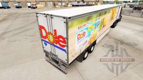 Skin Dole on a curtain semi-trailer for American Truck Simulator