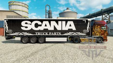 Skin Scania Truck Parts dark to semi for Euro Truck Simulator 2