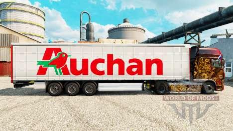 Auchan skin for trailers for Euro Truck Simulator 2