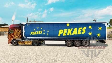Skin pekaes sa on a curtain semi-trailer for Euro Truck Simulator 2