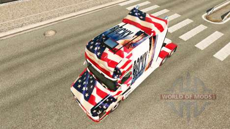 Rocky USA skin for truck Scania T for Euro Truck Simulator 2