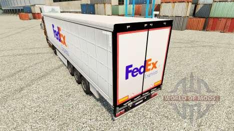 FedEx skin for trailers for Euro Truck Simulator 2