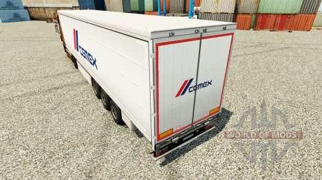 Skin Cemex to trailers for Euro Truck Simulator 2