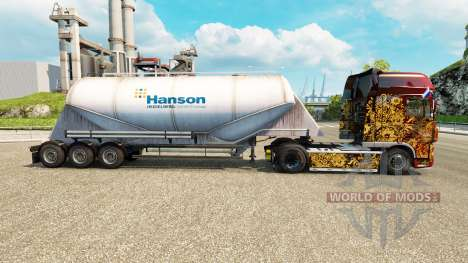 Skin Hanson cement semi-trailer for Euro Truck Simulator 2