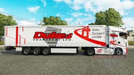 Dukes Transport skin for trailers for Euro Truck Simulator 2