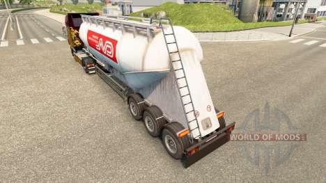 Skin Norbert cement semi-trailer for Euro Truck Simulator 2
