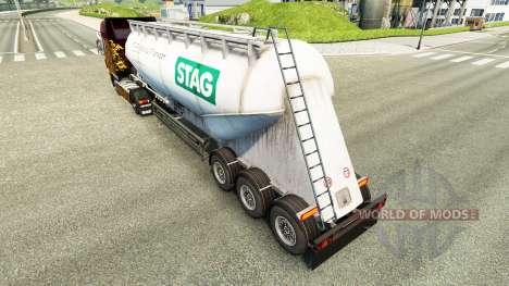 Skin STAG cement semi-trailer for Euro Truck Simulator 2