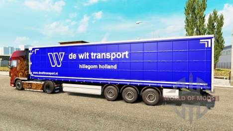 Skin De Wit Transport on semi-trailers for Euro Truck Simulator 2