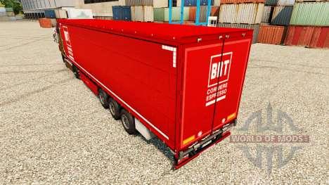 Skin BRT on semi for Euro Truck Simulator 2