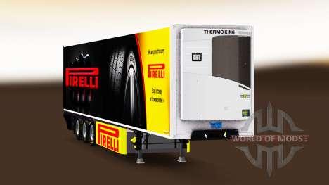 Semi-trailer refrigerator Chereau Pirelli for Euro Truck Simulator 2