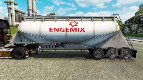 Skin Engemix cement semi-trailer for Euro Truck Simulator 2