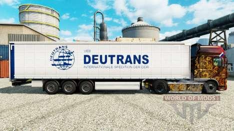 Skin on semi Deutrans for Euro Truck Simulator 2