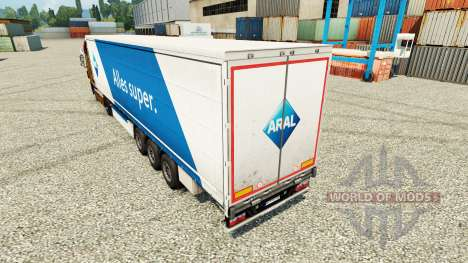 ARAL skin for trailers for Euro Truck Simulator 2