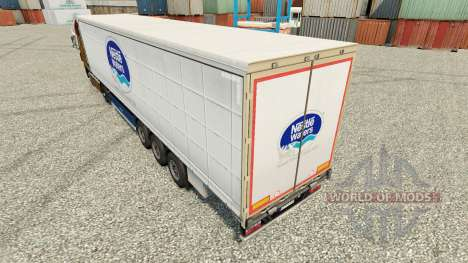 Nestle Waters skin for trailers for Euro Truck Simulator 2