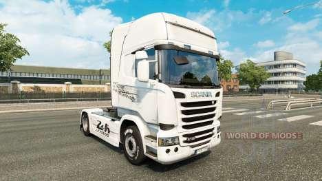 Skin Porsche tractor Scania for Euro Truck Simulator 2