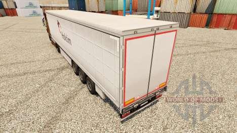Holcim skin for trailers for Euro Truck Simulator 2
