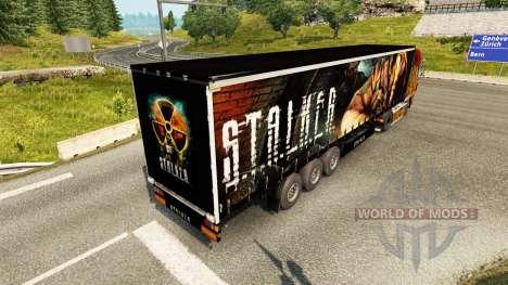 Skin S. T. A. L. K. E. R. on semi for Euro Truck Simulator 2
