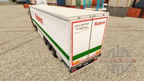Raben skin for trailers for Euro Truck Simulator 2