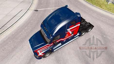 Скин Cargo Transporters на Freightliner Cascadia for American Truck Simulator