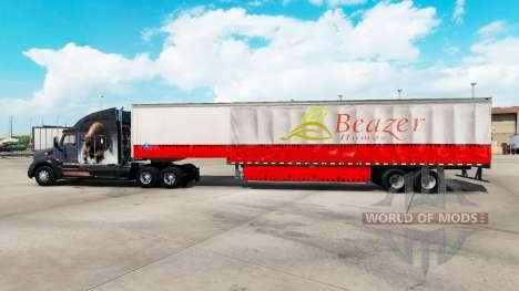 Skin Beazer Homes on a curtain semi-trailer for American Truck Simulator