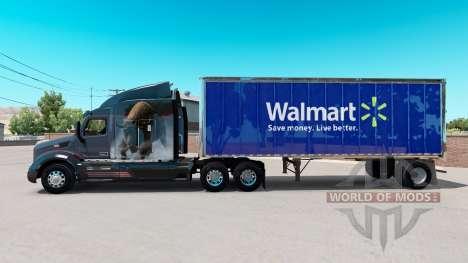 Skin Walmart on small trailer for American Truck Simulator