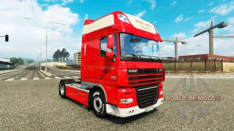 Peter Appel skin for DAF truck for Euro Truck Simulator 2