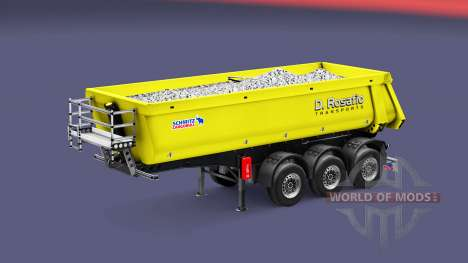 Semi-trailer tipper Schmitz Rosafio Transports for Euro Truck Simulator 2