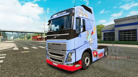 Skin Tom & Jerry for Volvo truck for Euro Truck Simulator 2