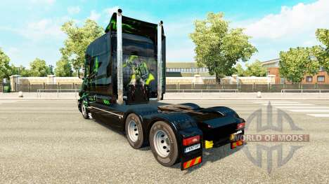 Monster Energy skin for the Scania T tractor uni for Euro Truck Simulator 2