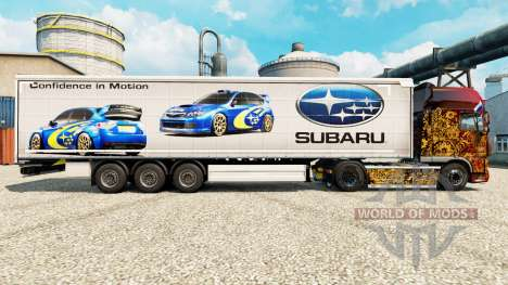 Skin Subaru semi for Euro Truck Simulator 2