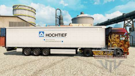 Skin Hochtief to trailers for Euro Truck Simulator 2