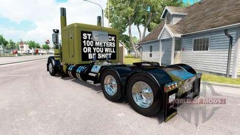 WW2 Clean skin for the truck Peterbilt 389 for American Truck Simulator