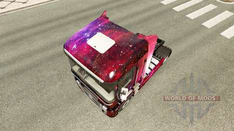 Weltall skin for Renault Magnum truck for Euro Truck Simulator 2