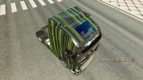 Green Stripes skin for Volvo truck for Euro Truck Simulator 2