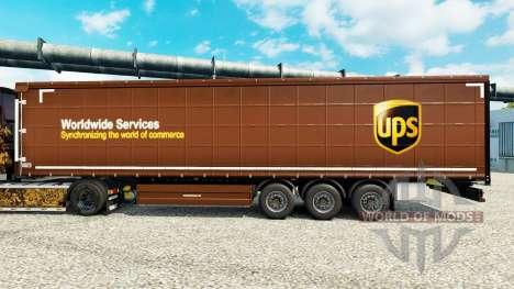 Skin United Parcel Service Inc. on semi for Euro Truck Simulator 2