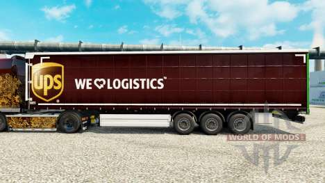 Skin UPS Inc. on semi for Euro Truck Simulator 2