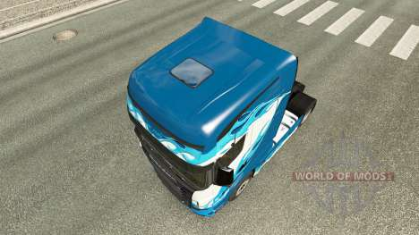 Blue Flame skin for Scania R700 truck for Euro Truck Simulator 2
